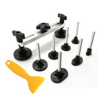автомобильные тяговые инструменты оптовых-PDR набор инструментов Paintless вмятины съемник Remover вытягивать мост вмятина удаления ручной инструмент набор для ремонта автомобиля вмятины инструменты PDR комплекты