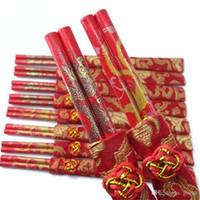 ingrosso pair draghi cinesi-500 paia di legno retrò Classic cinese doppia felicità bacchette DragonPhoenix stampato bouquet da sposa Souvenir regalo ZA1343