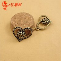 Wholesale Druzy Charms - A1042 26*37*8MM Fit 1.8MM Rhinestones Hollow retro Heart Pendant Necklace Pendant NEW christmas charms,druzy pendant bijoux from india