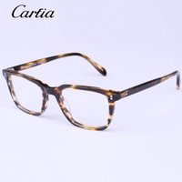 Wholesale Black People - 2016 New Arrival wholesale oliver peoples OV5031 optical prescription frames unisex eyewear plank acetate PC frames with free accessories