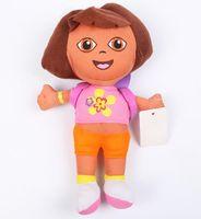 Wholesale Dora Adventure - 27cm plush kids dolls DORA plush doll the adventure-dora stuffed toy pillow Cartoon Dora plush toy best chrsitmas gift