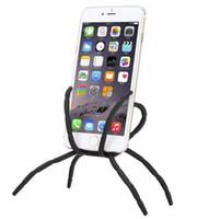 держатель для iphone оптовых-Универсальный паук держатель мобильного телефона для Iphone 6 Plus стент для Samsung S6 Edge S5 автомобильный держатель стенд поддержка держатель сотового телефона