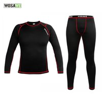WOSAWE Men Compression Tights Cycling Base Layer Running Fitness Workout  Gym Clothes Long Johns Sports pant jersey suit 4081e71a4