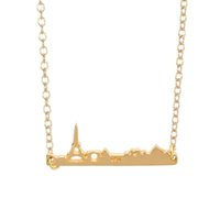 Wholesale Eiffel Tower Ladies Necklace - Castle elegant pendant necklace, the Eiffel Tower and the necklace with the structure of the lady is the best gift