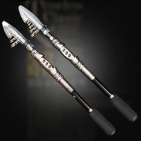 Wholesale High Carbon Spinning Fishing Rods - Wholesale-High Quality Carbon 1.8M 2.1M 2.4M 2.7M 3.0M Portable Telescopic Fishing Rod Spinning Fish Hand Fishing Tackle Sea Rod