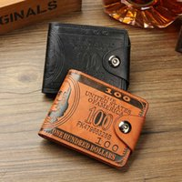 Wholesale Clutch Purse Clip - fashion men dollar purse wallet mix leather designer creativity card holders wallets High Quality Men Money Clip