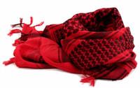 ingrosso sciarpe tattiche militari shemagh-All'ingrosso-100% cotone arabo Keffiyeh Shemagh sciarpa militare tattica delle sciarpe ispessite Hijab Square antivento Bandane