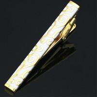 Wholesale Golden Clasp Tie - 2016 New Golden Color Tie Clips Cufflink Cuff Button Set For Business Men Tie Clasp Or Wedding Mens Suit Shirt Necktie Clips L-211