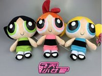 Wholesale Powerpuff Girls Buttercup - Free Shipping EMS The Powerpuff Girls 20CM Bubbles Blossom Buttercup Plush Doll Stuffed Toy