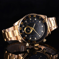 Wholesale Green Yachts - The yacht YM 44 mm top luxury brand sports people quality men's watch quartz watch in 16233 Look at the crown watch