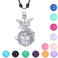 Wholesale harmony ball pendant cage resale online - Mexican bola Pendant Cage Harmony ball chime Pendant for Pregnant Can open the cage ball angel pendants hollow necklaces