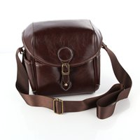 Wholesale Vintage Slr Camera Case - Waterproof PU Leather Vintage DSLR SLR Camera Single Shoulder Bag Case Universal