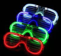 ingrosso occhiali da sole partito illuminato-Moda LED Light Glasses Flashing Shutters Shape Occhiali LED Flash Occhiali da sole Danze Rifornimenti del partito Decorazione Festival E1680305