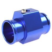 "Wholesale Temperature Meter For Cars - Aluminium Three-way( Tee ) Valve Adapter For 1 8"" NPT Car Water Temperature Temp Sensor Digital Gauge meter"