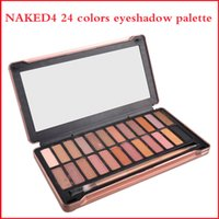 Wholesale Eyeshadow Palette 24 - 2016 Nude4 eye shadow NUDE4 Smoky Palette 24 Color Eyeshadow Palette with 12 rose-hued neutrals via DHL free shipping