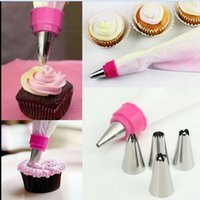 Wholesale Sugarcraft Decorating Tips - 1 Piece Stainless Steel Cake Decorating Icing Piping Nozzles Pastry Tips Set For Cookie Cream Presser Sugarcraft Kitchen Tools