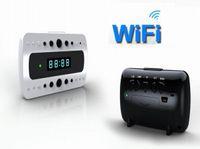 Wholesale Alarm Home Wifi - Full HD 1080P WIFI Camera IR night version IP Camera digital spy camera alarm Clock Mini Camcorders Home security baby monitor