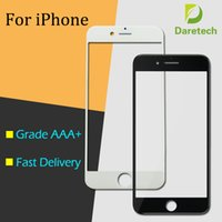 Wholesale Glasses Mix Color - Front Outer Touch Screen Glass Lens Replacement for iPhone 5 6 Plus 6s 6S Plus 7 Plus free DHL(mix color)