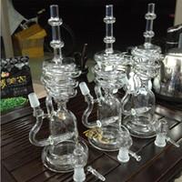 cam borular bong petrol kubbe kabarcıklayıcı toptan satış-Yeni varış Cam Bong cam fıskiye su borusu Yağ kuleleri ile cam tırnak dome Su Boruları 2017 Oli Rigs