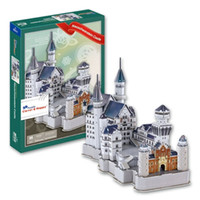 Wholesale Neuschwanstein 3d - Top World famous buildings Jigsaw Model 3D Puzzle Neuschwanstein Castle DIY Xmas Gift Toys for childrens day Learning Education