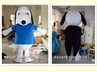 Wholesale Plush Snoopy Dog - The two kinds of plush bodysuit snoopy dog mascot costumes for birthday party adult size custom made free shipping