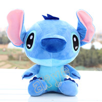 Wholesale Stitch Dolls - Free Shipping Hot Sale High Quality Cute Lilo & Stitch Plush Doll Toys 18cm Lovely Stitch Toys Plush Animals For Child Gifts