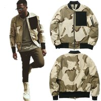Wholesale Mens Add Jackets - Wholesale- Autumn winter streetwear ADD cotton liner hip hop clothing mens jackets and coats MA1 bomber Army Camo Desert Jacket Outerwear
