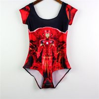 Wholesale Yellow Iron Covers - Iron Man Swimsuit Fashion Breathable Spa Bathing Sets Cover Belly Wire Free Swimming Suit Patterned Slim Beachwear One-Piece LNSst