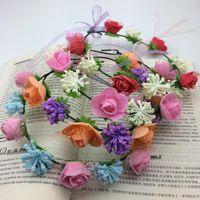 Wholesale Decorative Flowers Prices - Lowest Price Summer Style Girls Flower Headband Women Hair Accessories Wedding Head Wear Bride Hair Accessories