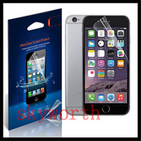 Wholesale Iphone 5c Screen Guard - HD Clear LCD Screen Protector Film Guard For iphone 4 4S 5 5S 5SE 5c 6 6S Plus 6plus