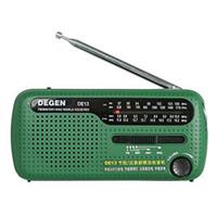 Wholesale Degen Sw Radio - Top Quality FM Radio DEGEN DE13 FM MW SW Crank Dynamo Solar Emergency Radio World Receiver