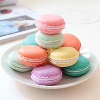 Wholesale Macaron Storage Boxes - Cute Candy Color Jewelry boxes Macaron Mini Cosmetic Storage Boxes Display Macaron jewelry case free shipping