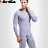 Wholesale Wool Thick Leggings - Cotton Thermal Underwear Sets 2016 Autumn Winter Thick O Neck Top Quality Calzoncillos Largos De Invierno Hombre Leggings Men's