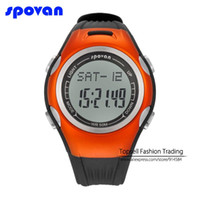 Wholesale Digital Watch Blue Lcd - Wholesale-3D smart pedometer Heart Rate Calories Digital Sports Watch with LCD Monitor Exercise Memory Mode Stopwatch 50ATM Water Resist