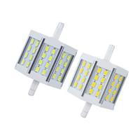 галогенная лампа r7s оптовых-R7S светодиодная лампа кукурузы лампы 10 Вт SMD5730 78 мм AC85-265V 24 светодиодов светодиодные лампы энергосбережения идеально заменить галогенные лампы бесплатная доставка