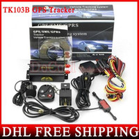 Wholesale China Accessories For Cars - 50pcs lot Car GPS tracker TK103 B With Remote Control For GSM GPRS GPS Tracker For Vehicles, Full Accessories Wholesale
