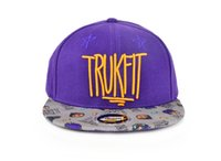 Wholesale Truckfit Hat Wholesale - High Quality truckfit plated grid brim Hat Baseball hats for Men Snapback Caps BasketballAdjustable Sports Snapbacks For Adult