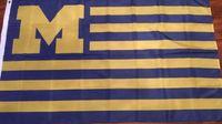 Wholesale usa flag stripes - American Michigan Team Wolverines Stars & Stripes National Large Outdoor Banner Flag Custom USA Hockey Baseball College Basketball Flags
