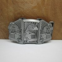 Wholesale Lighter Belts Buckles - BuckleHome eagle belt buckle with kerosene lighter with pewter finish FP-03046 free shipping