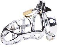 melhores cintos masculinos de castidade venda por atacado-Sexy Aço Inoxidável CB753 Masculino Dispositivo de Gaiola de Castidade Cinto Bondage UA3 Melhor Presente # R172