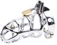 mejores cinturones de castidad masculina al por mayor-Sexy CB753 dispositivo de jaula de castidad masculina de acero inoxidable Bondage UA3 mejor regalo # R172