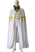 Wholesale Cosplay Geass - Popular Anime Cos Code Geass Bismarck Waldstein Cosplay Costume Halloween Clothing with Cape White Customize Full Set