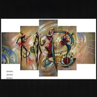 Wholesale Styles Sprays - 5 Panels Art Canvases Abstract Wall Art Woman Face Brief Spray Printings Canvas Art Unframed Abstract Oil Painting Drop Shipping 2 Styles