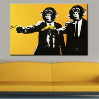 Wholesale Picture Painting Ideas - Andy warhol banana monkey wall pictures creative oil painting paint canvas top idea decor wall art for wall painting no framed