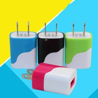 Wholesale Usa Data - Hot Iphone 6s Plus Galaxy S6 Edge Universal Colorful 5V 1A USA Plug AC Power Adapter USB Wall Charger For IPhone 6 Samsung Galaxy DHL CAB126