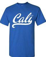 Wholesale California Fashion Men - Summer New men's Fashion Cali White T-shirt California Shirts Short Sleeved Cotton T-Shirt