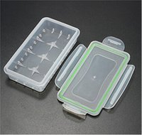 Wholesale Translucent Plastic Box - 18650 Battery Box Waterproof Case Plastic Protective Storage Translucent Battery Holder Storage Box for 18650 and 16340 Battery DHL Free
