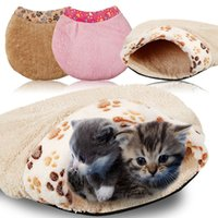 Wholesale Small Dog Houses - Soft Warm Cat Dog Cave Pet Bed House Puppy Sleeping Mat Pad Nest Size S ,manta perro,pet beds,dog blanket