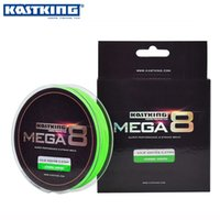 Wholesale Fish Shooting - Wholesale-KastKing 300Yds 274M 0.14-0.45mm 8 Strands PE Braided Fishing Line Multifilament Fishing Line Green 20-80LB Saltwater Fish Wire
