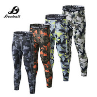 Wholesale Camouflage Pants For Men Skinny - Jimesports 2017 camouflage men running tight running pants skinny traning pants compression tights mens trousers fitness leggings for men